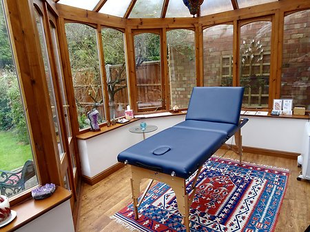 Home. Massage couch blue2